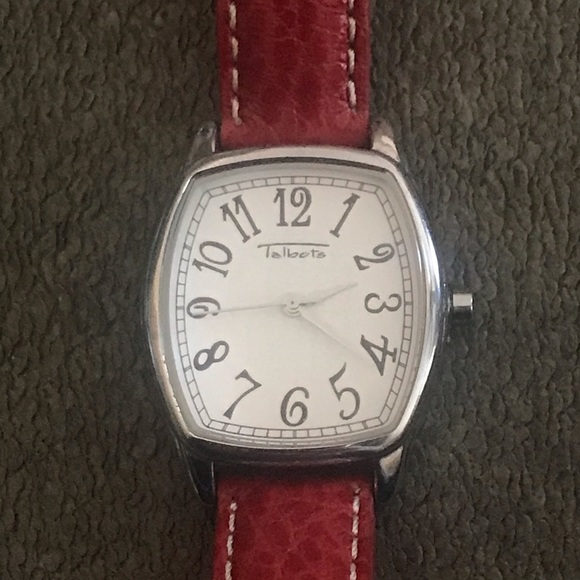 Talbots Red Pebble Leather Watch.